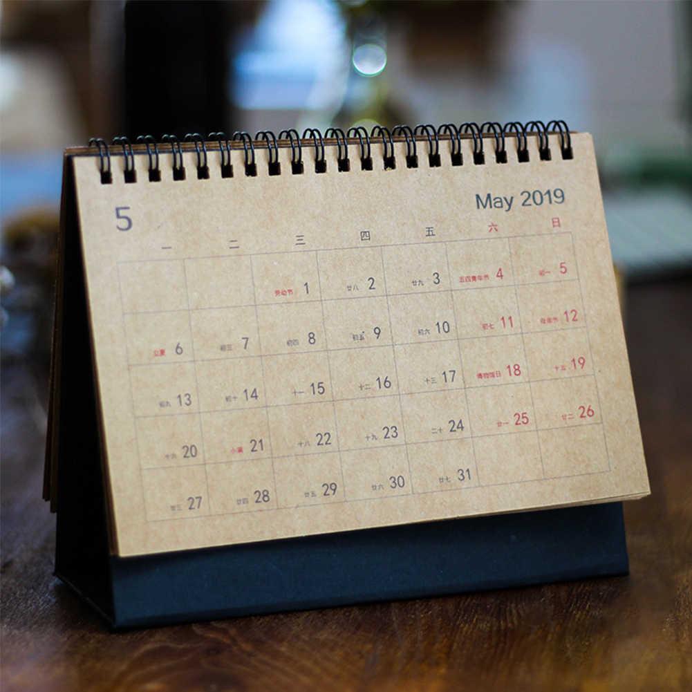 Steady 2019 New Cute Unicorn Flamingo 2019 Planner Desk Calendar Supplies Office Decoration Organizer For Students Calendars, Planners & Cards
