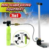Diving Equipment Mini Scuba Oxygen Air Tanks Adapter Pump Aluminum Box Snorkeling Underwater Breathing Device Accessories