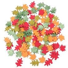 120 шт./компл. квадрокоптера самоклеящаяся сверкающие кленовые листья нетканого материала EVA ремесел ручной работы наклейки для детей