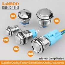 Выключатель с защелкой или мгновенным включением, 12 мм/16 мм/19 мм, кнопка включения/выключения SPST без лампы