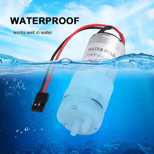 Metal 3-6 V 370EP bomba de refrigeración por agua bomba de barco RC pieza accesorio de enchufe JR para Motor de barcos RC accesorio RC de refrigeración por agua ESC