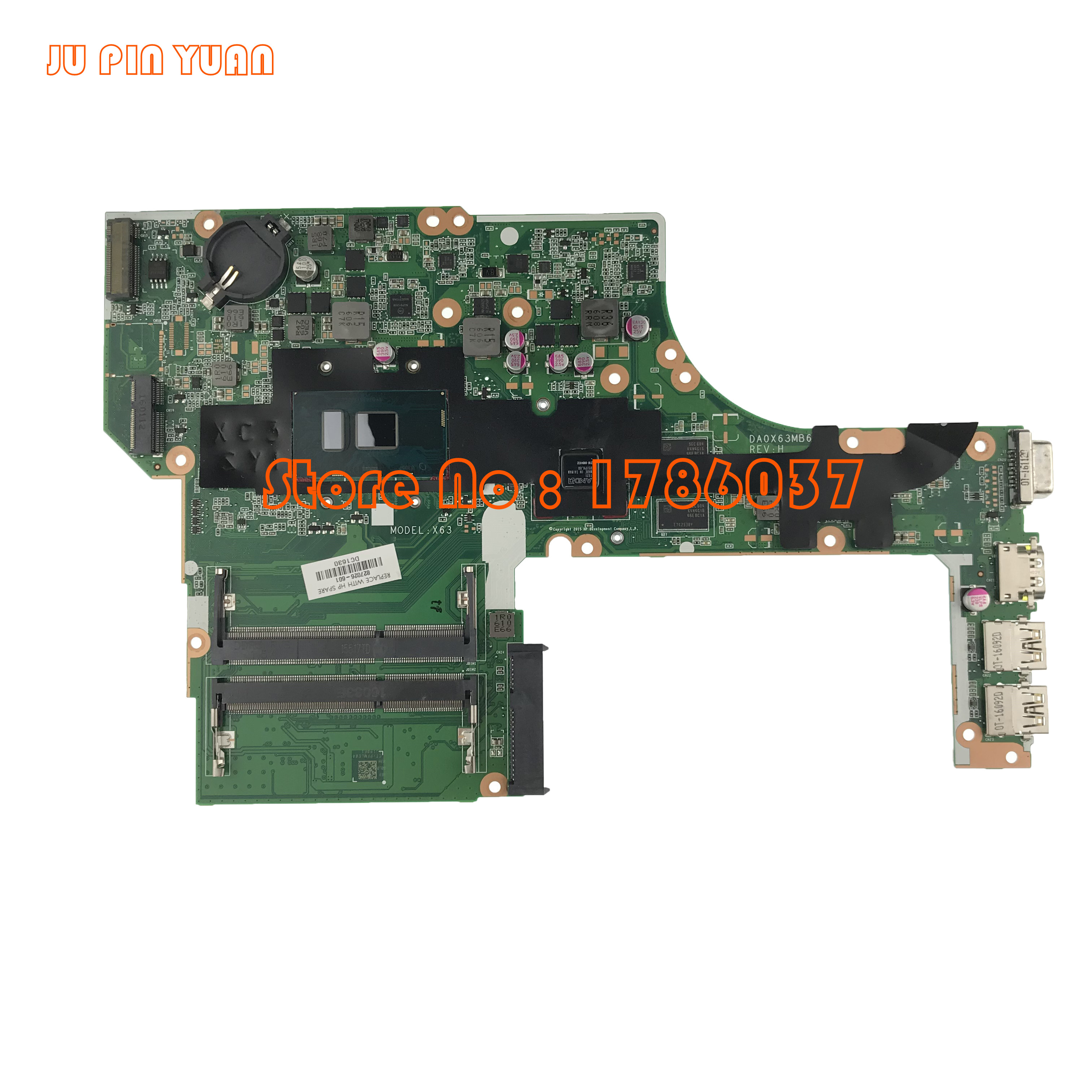 JU PIN YUAN 827026-001 827026-501 827026-601 para HP 450 G3 470 G3 series laptop motherboard X63 DA0X63MB6H1 totalmente Testado