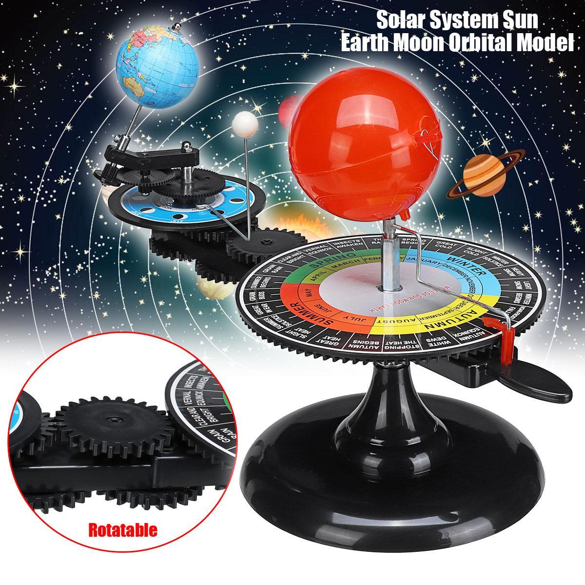 Solar System Globes Sun Earth Moon Orbital Planetarium Model Teaching Tool Education Astronomy Demo for Student Children Toy недорго, оригинальная цена