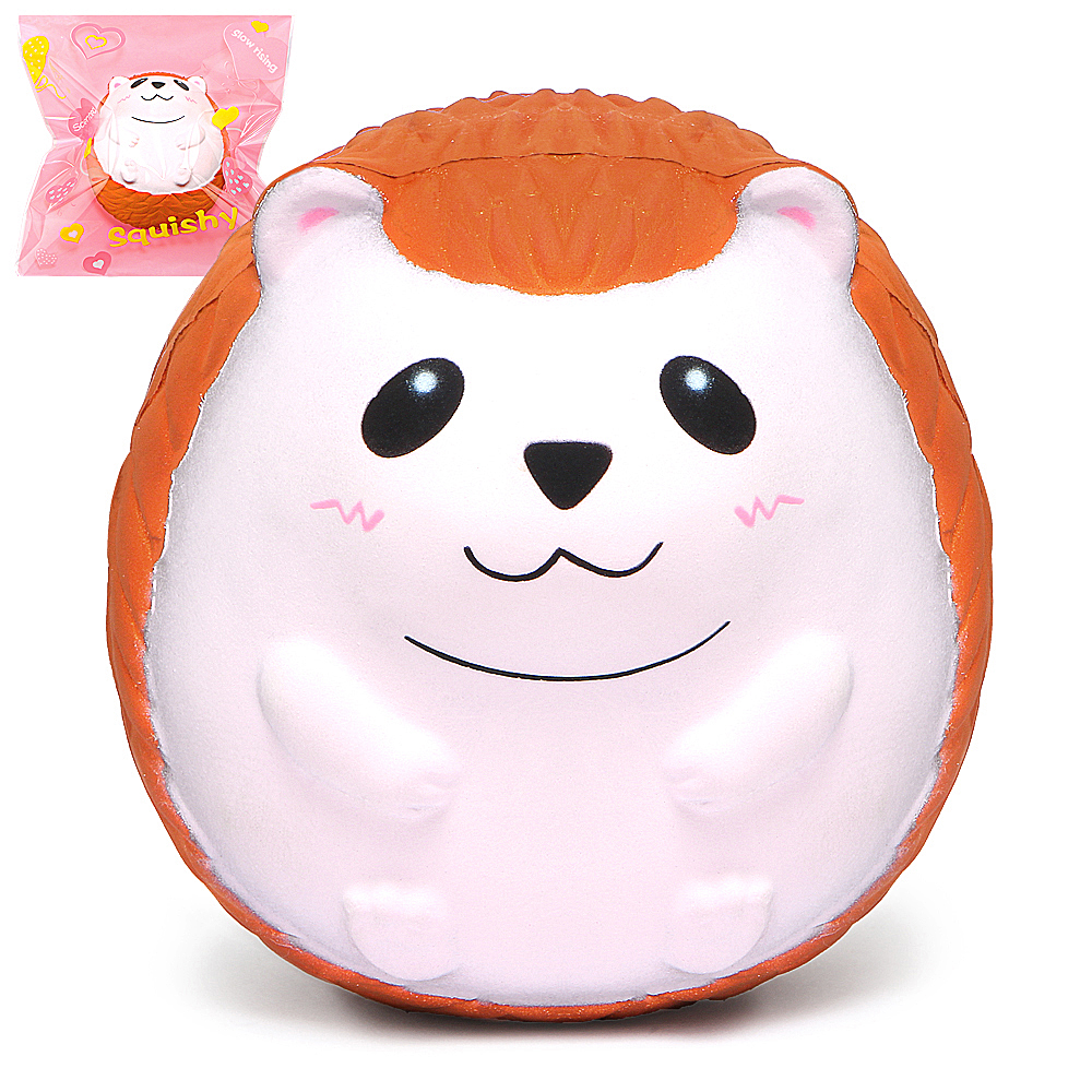 Jumbo Hedgehog Squishy Cute Animal Squishies Cream Scented Slow Rising Squeeze Toy Original Package