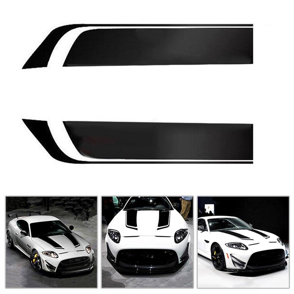 Universal 2 pcs auto car hood stripes sticker racing sports vinyl decals