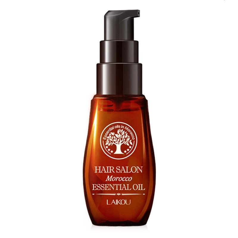 LAIKOU 40ML Morocco Pure Argan Oil Hair Growth Nut Essential Oil Anti Hair Loss Repair for Repair Damaged Dry Hair Types TSLM1 5
