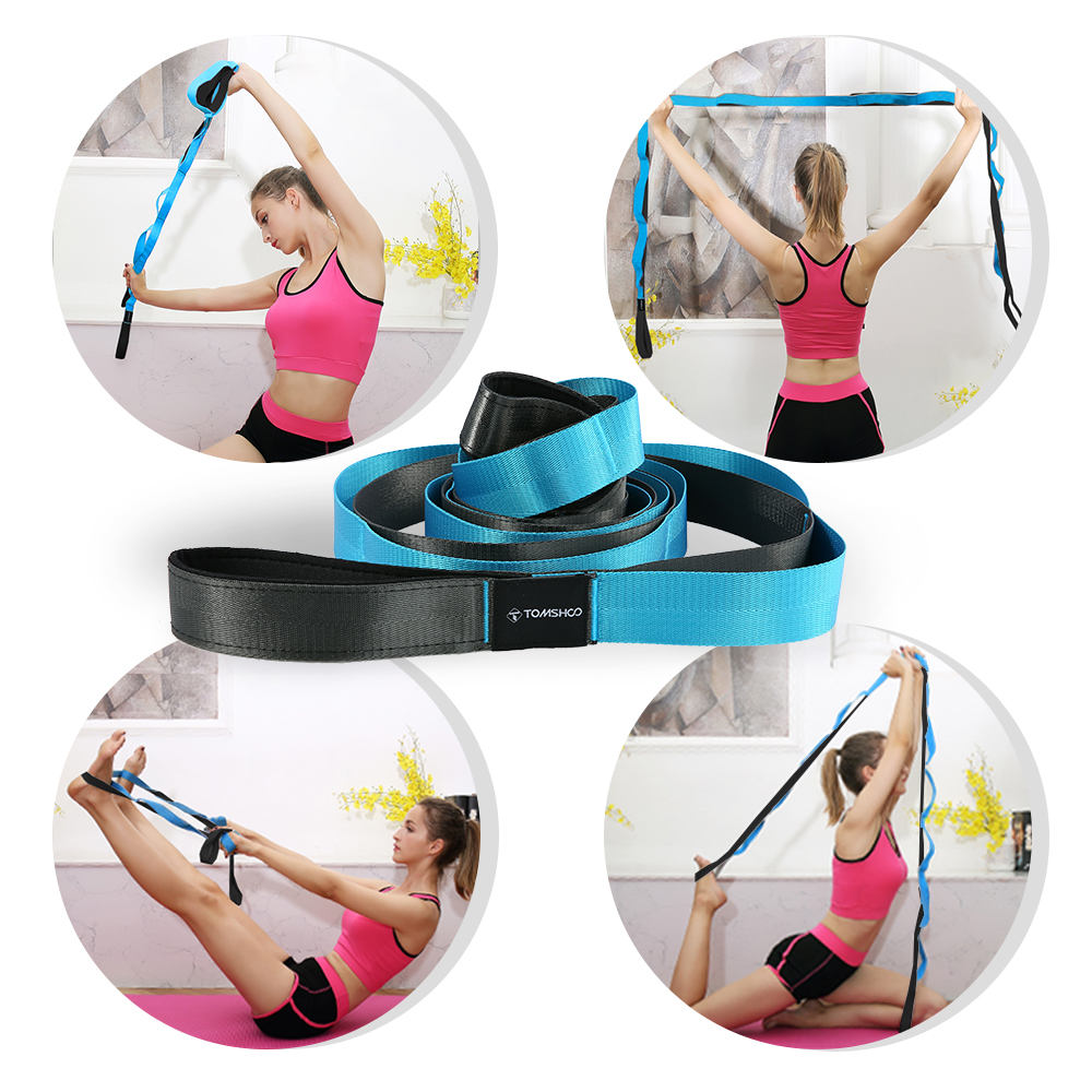 Fitness Yoga Resistance Bands Elastic Stretching Strap With Loops 2 Foot Massage Ball Door Anchor Home Gym Training Strap Kit Exquisite Workmanship In