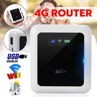 4G LTE Portable Router Pockets Wifi Modem 4g Mobile Hotspot Mini Router 10m Transmission With Sim Card Slot for Car Travel