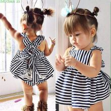 0-24M Newborn Baby Girls Clothes Infant Kids Summer Striped