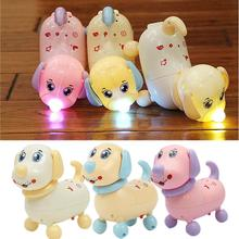 Electric Intelligent Cartoon flash electric toy robot Dog with Music Lights Moving Shaking Children Toy 3-6 years old