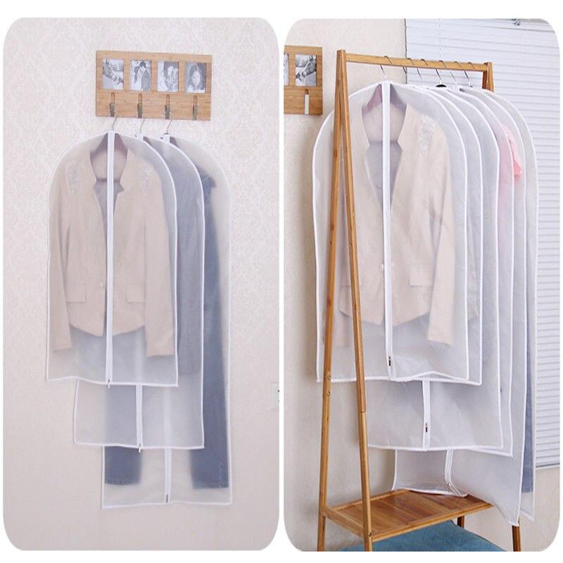 10 X Kleidungsstück Deckel Trocken Reiniger Kleider Aufbewahrungstasche Klar