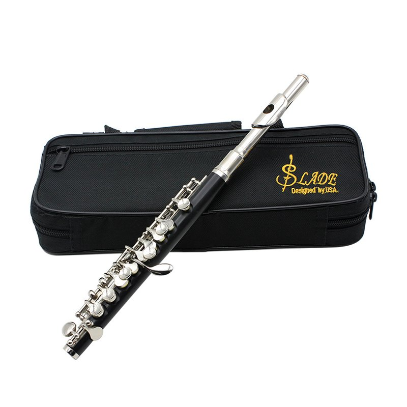 ABGZ-SLADE C Key Tone Half-Size Flute Piccolo Cupronickel Silver Plated With Cleaning Stick Padded Case ScrewdriverABGZ-SLADE C Key Tone Half-Size Flute Piccolo Cupronickel Silver Plated With Cleaning Stick Padded Case Screwdriver
