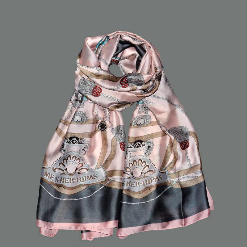 春新ブランドの女性絹のようなスカーフファッションソフト息ロング夏シルクスカーフショール女性パシュミナ女性バンダナスカーフ