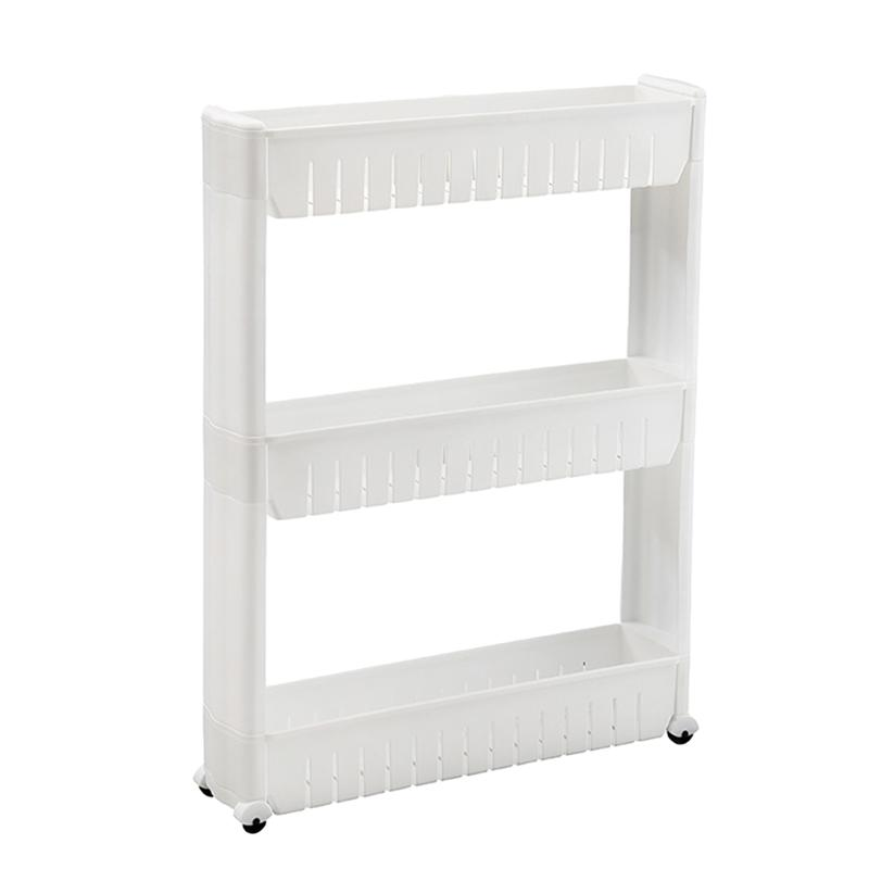1 Pc Slim Gap Slide Out 3-Tier Shelf Storage Rack Tower Cupboard for Home Kitchen Bathroom(China)