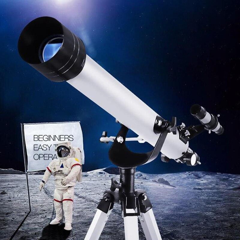 525 Vezes de Zoom Telescópio Astronômico Espaço Monocular Ao Ar Livre Telescópio de Observação Astronômica F70060 Telescopio
