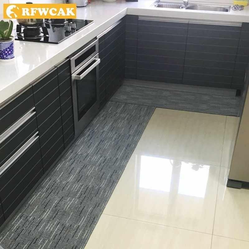 RFWCAK Casa Moderna Cozinha Capacho Tapete de banho tapete de Absorção de Água Não-slip Retângulo Sala de estar Quarto Tapete Porta Do Banheiro Tapete