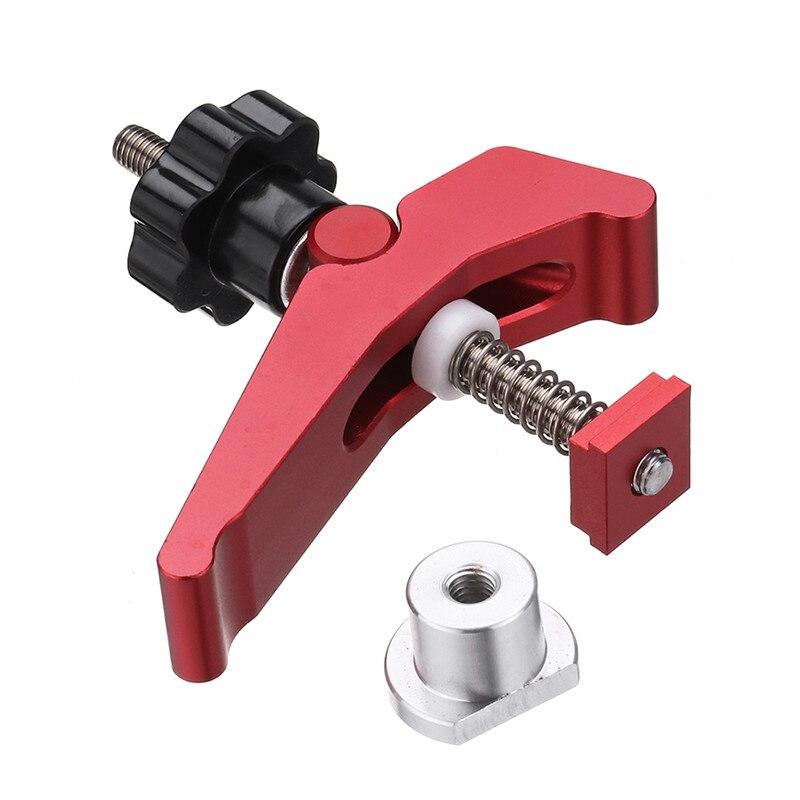 Liga de alumínio de ação rápida segure para baixo braçadeira t-slot t-track braçadeira conjunto carpintaria ferramenta durável
