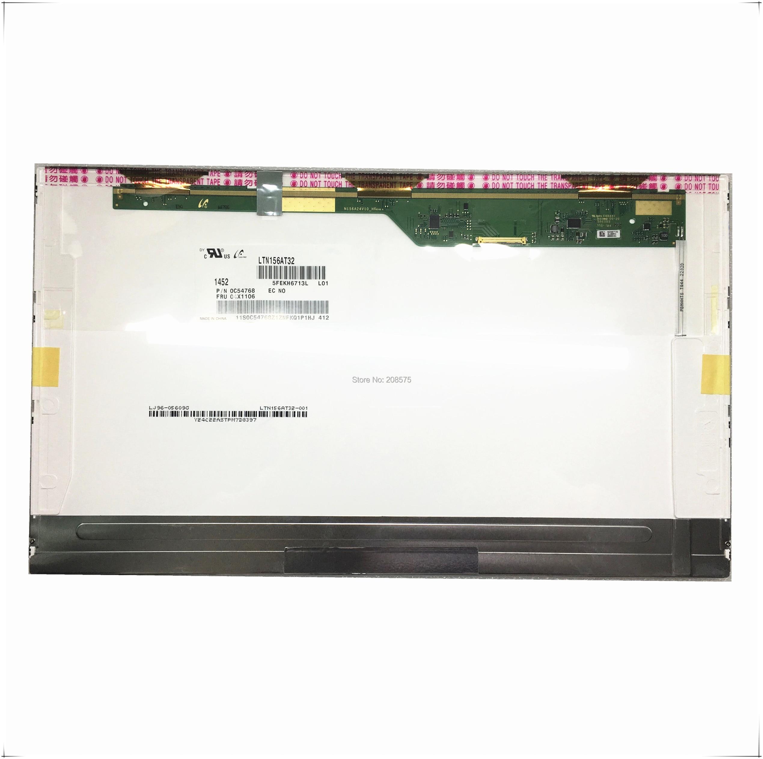 Free Shipping LTN156AT32 HB156WX1-100 N156BGE-L21 LTN156AT27 B156XTN02.2 LP156WH4 B156XW02 Display Laptop Screen Pancel 40 Pins
