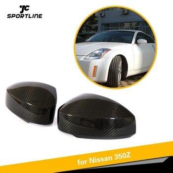 Sisi Belakang Cermin Stiker Penutup untuk Nissan 350Z Serat Karbon Belakang Cermin Penutup Tutup Cangkir