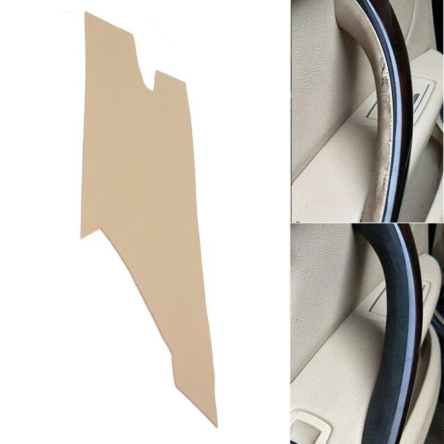 Poignée de porte intérieure en cuir microfibre, garniture décorative, pour BMW série 3 F30, 2013, 2014, 2015, 2016, 2017