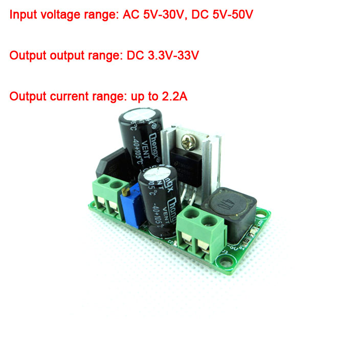 LM2596HV AC/DC понижающий преобразователь модуль питания 3,3 V 5V 9V 19V 12V 24V