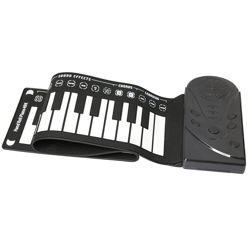 Synthesizer Keyboard Piano 49 Keys Portable Electric Piano Keyboard Organ Silicon Flexible Roll Up Piano Soft