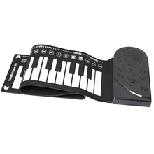Synthesizer Keyboard Piano 49 Keys Portable Electric Piano Keyboard Organ Silicon Flexible Roll Up Piano Soft Keyboard Piano roll up piano sound spectrum sticker 49 key electronic organ 49k4 electronic keyboard piano silicon usb charging flexible