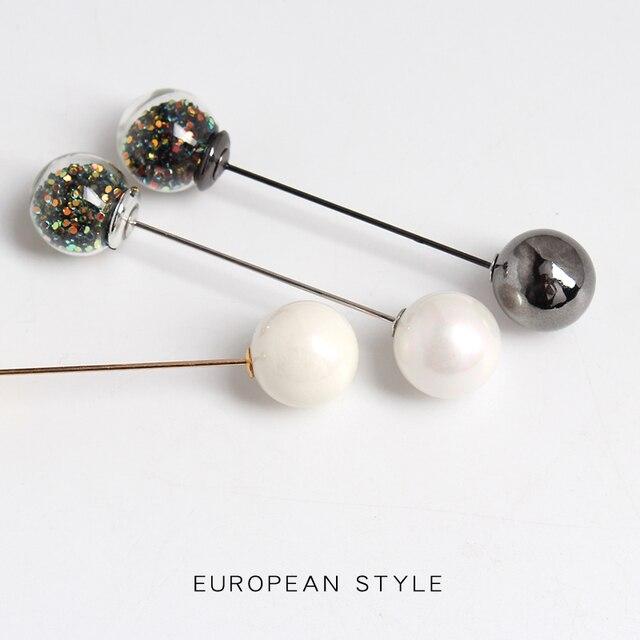 99-karat farbe ball brosche mit verschiedenen tragen methoden, eine-wort pin strickjacke kragen und taste seide schal Freies Verschiffen