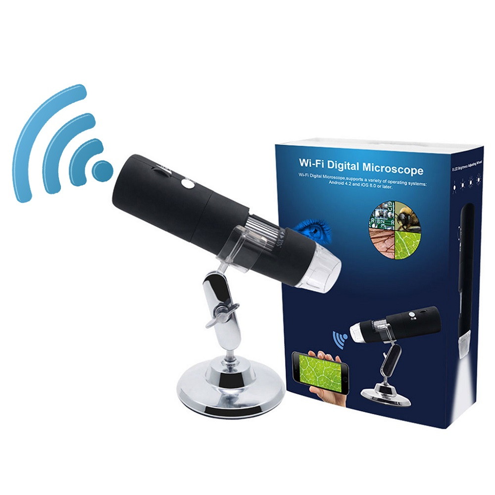 Image 5 - 2MP Full HD 1080P WIFI USB Digital 1000x Microscope Magnifier Camera for ios Android Rechargeable Lithium battery 8 LED lights-in Microscopes from Tools