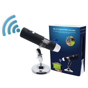 2MP Full HD 1080P WIFI USB Dijital 1000x Mikroskop Büyüteç Kamera Ios Android Için şarj Edilebilir Lityum Pil 8 LED ışıkları