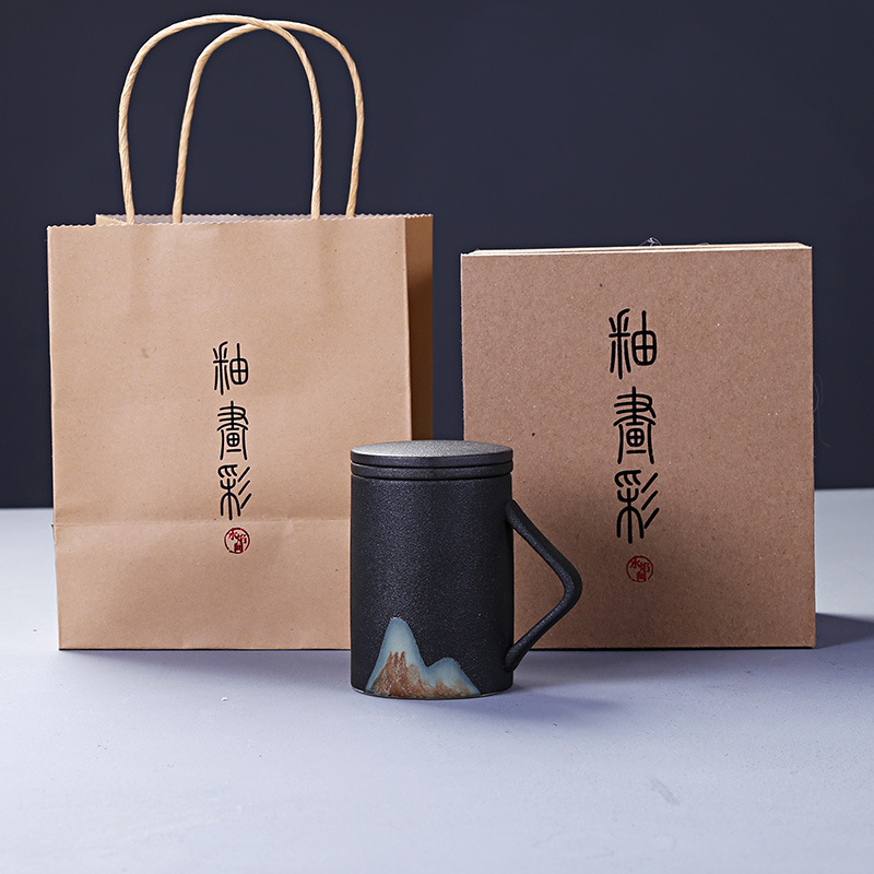Coarse Mug Ceramics Filter To Work In An Office Cup Scented Tea Cup Tea Water Separation Bubble Chinese Wolfberry CupsCoarse Mug Ceramics Filter To Work In An Office Cup Scented Tea Cup Tea Water Separation Bubble Chinese Wolfberry Cups