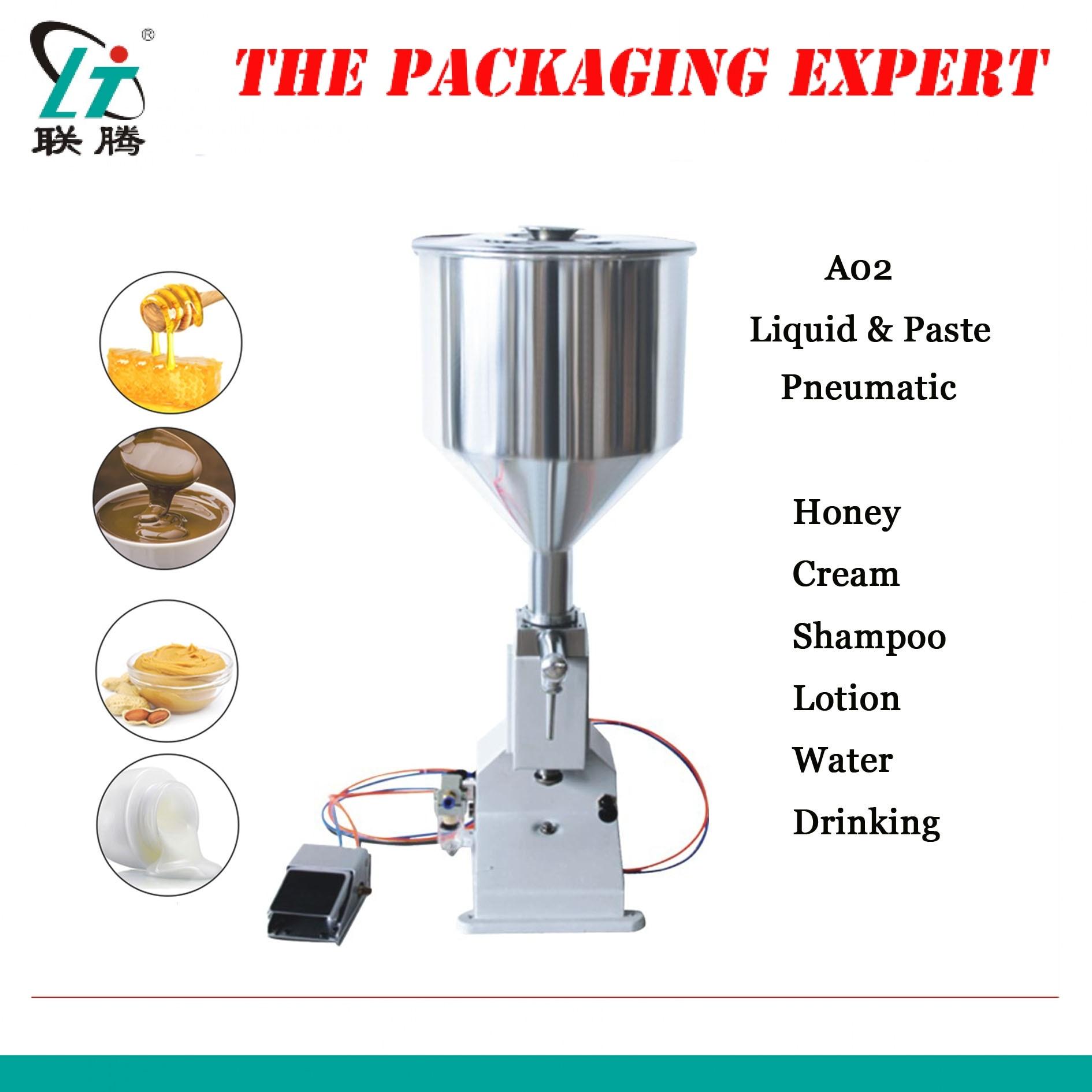 Manual Paste Filling Machine Liquid Filling Machine Cream Bottle Vial Filler Sauce Jam Nial Polish Water 50ml A02 Free Shipping