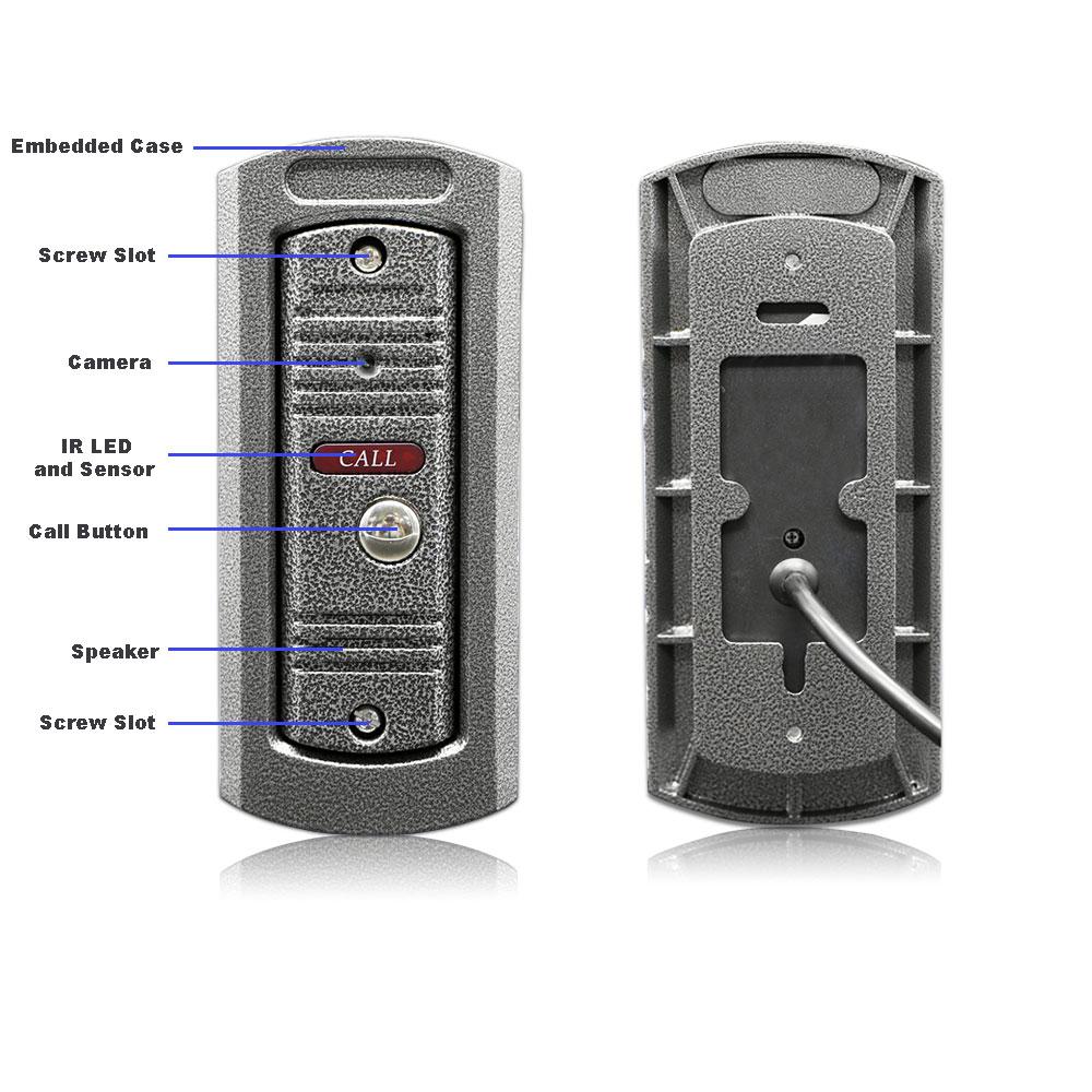 7 Wireless WiFi LCD Video Doorphone HD 720P 1200TVL IR IP65 Outdoor Metal Camera APP Video Record Doorbell Intercom System - 4