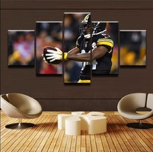 Top-Rated Canvas Print Paintings Home Decorative 5 Pieces Sport Rugby Player Posters For Modern Living Room Wall Art Framework top posters холст золотой мустанг top posters 50х75х2см b 714h