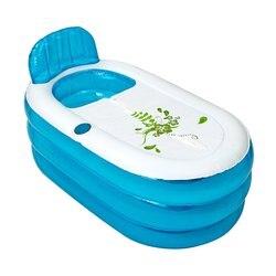PVC Aufblasbare Badewanne 140*75*70 cm Tragbare Badewanne Home Camping Reise Folding SPA Bad Mit Kissen rohr für Erwachsene