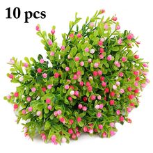 10PCS Artificial Gypsophila Flower Lifelike Multi-Purpose Plastic Fake Home Desktop Decoration Supplies