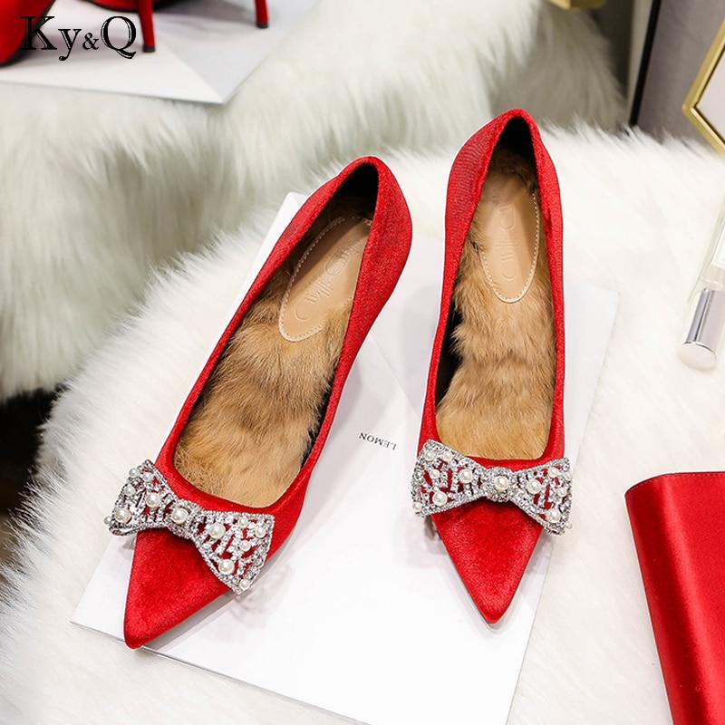 red De Hauts Bout Red nude Parti Chaussures Couleur A black 9cm nude 9cm black Perle B 6cm Dame Mode Pompes Élégante Femme Arc Pointu Daim Sexy Mariage 9cm 6cm 6cm red Talons Solide 6cm 7wvUqTx4