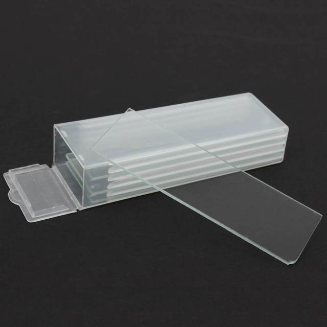 5Pcs 1mm 두께 캐비티 유리 Coverslips 단일 오목 현미경 유리 슬라이드 재사용 가능한 실험실 빈 샘플 커버 유리