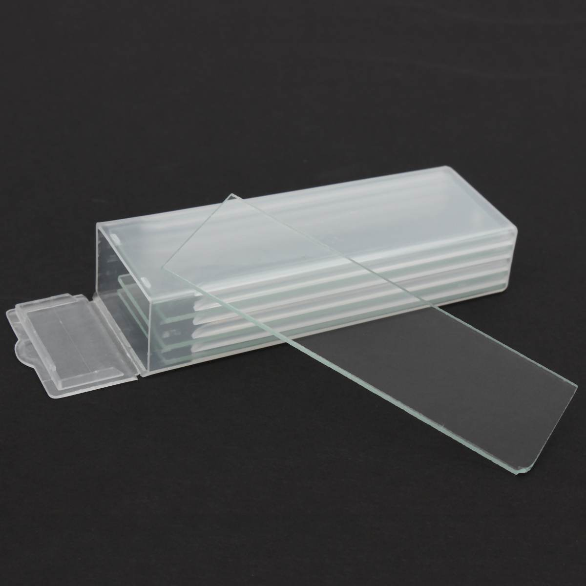 5Pcs  1mm Thickness Cavity Glass Coverslips Single Concave Microscope Glass Slides Reusable  Laboratory Blank Sample Cover Glass