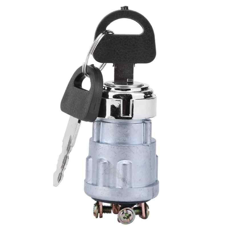 Interrupteur universel de clé de démarreur d'allumage de moto de bateau de voiture 12 V commutateur de moteur de voiture de 4 positions avec 2 clés pour le moteur à essence nouveau