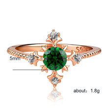 Rings for women Silver 925 Mood couple costume jewellery Green zircon love ring treasure King of mens rings ringenB2430