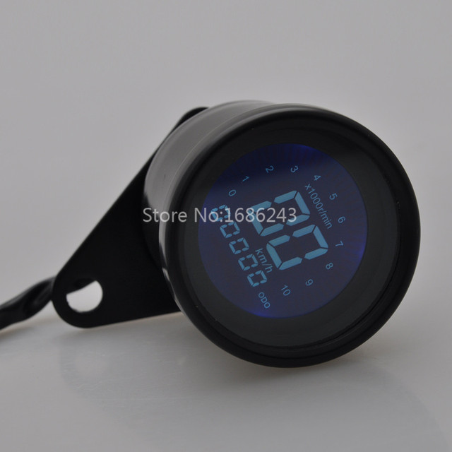 Retro LED LCD Tachometer Speedometer Fuel Gauge Assembly Cafe Racer Universal