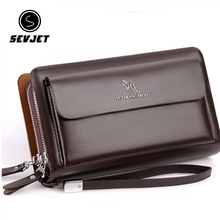 Kangraoo Brand Fashion Men Phone Clutch Bags Male PU Leather Hand Bag Business M