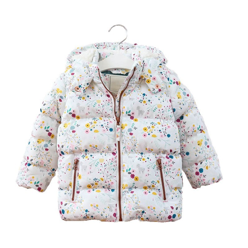 girls winter coat hooded fleece worm baby jacket outerwear fashion worm autumn kids clothes boutiques