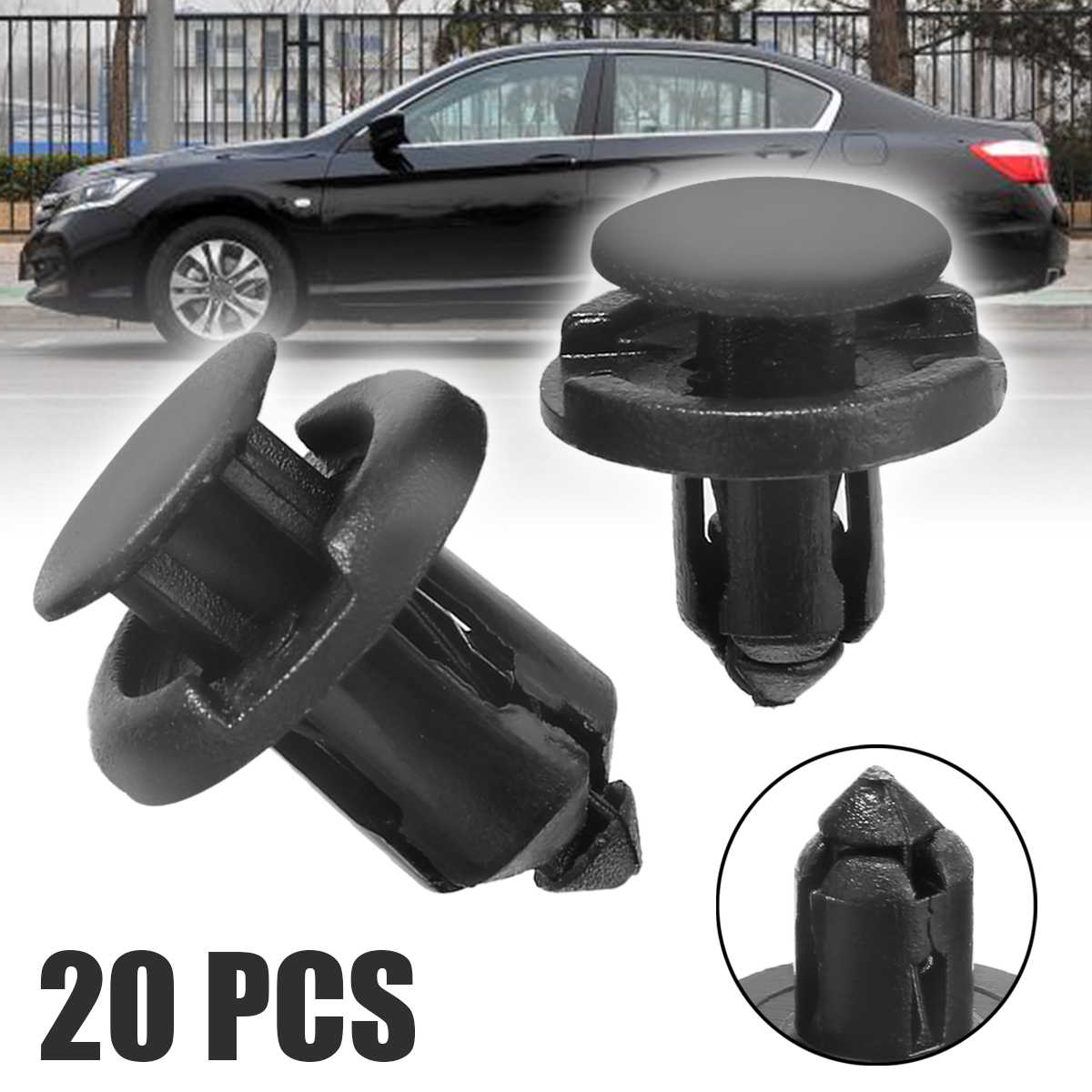 20Pcs/set 8mm 10mm Hole Plastic Retainer Bumper Rivet Trim Clip Engine Cover Panel Clip Fasteners For Honda Civic Accord