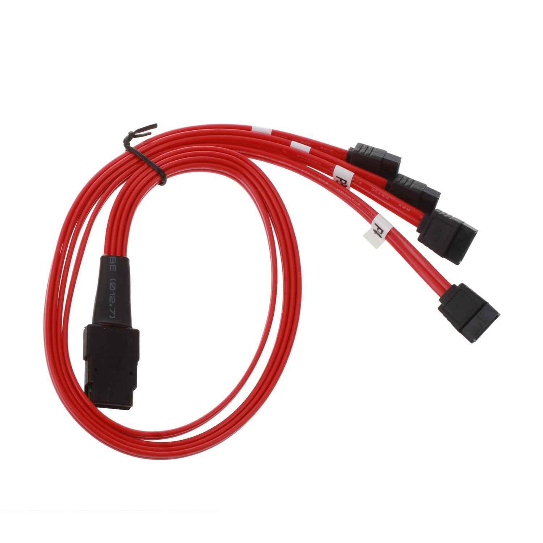 Semoic ミニ 10 6gbps の Sas 4i SFF-8087 36 ピン 4 SATA 7 ピン Hdd ハードディスクドライブにスプリッタケーブル