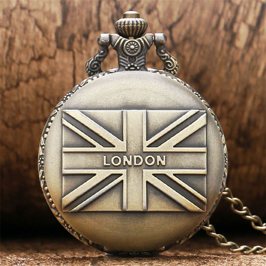 Exquiste Pendant Pocket Watch Uk Flag/Turkey/Paris Tower/Canada/Austria Design Souvenir Quartz Pocket Watch With Necklace Chain