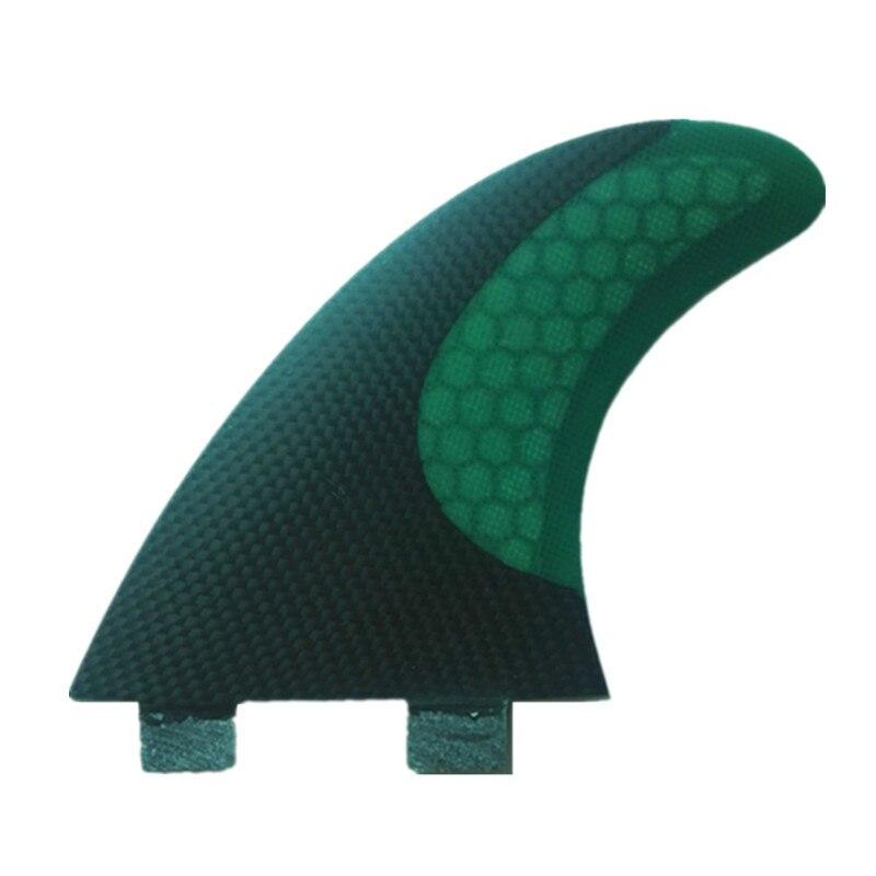 3 Pcs Vente Chaude Fiber of Carbone Keels of Surf Honeycomb Planche Surf Boards Ailettes Propulseur