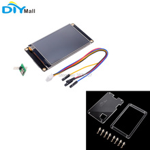 Nextion Enhanced 3.5 NX4832K035 480x320 Resistive Touch Screen HMI UART Display Module Transparent Acrylic Case for Arduino