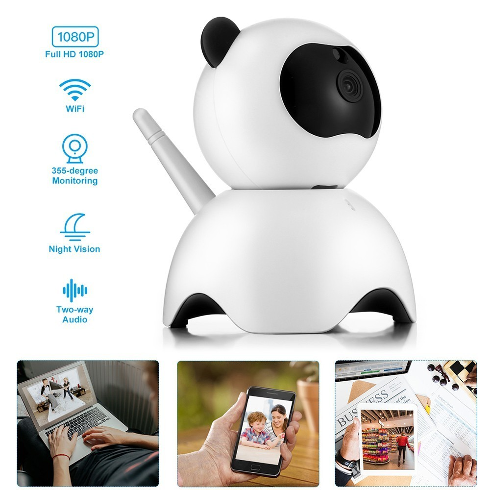 Intelligent Baby Monitor 1080P HD IP Camera Cute Webcam For Indoor Home Security Babysitter Radio Temperature Monitoring